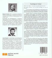 Psychologie Enfant - 4ème de couverture - Format classique