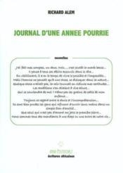 Journal D'Une Annee Pourrie - Couverture - Format classique