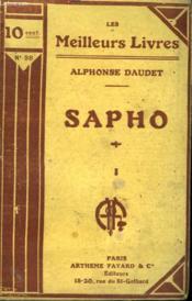 Sapho. Tome 1. Collection : Les Meilleurs Livres N° 98. - Couverture - Format classique
