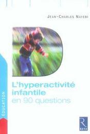 L'Hyperactivite Infant 90 Ques - Intérieur - Format classique