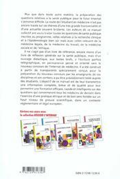 Sante Publique Medecine Legale Medecine Du Travail Medecine Sociale Ethique - 4ème de couverture - Format classique