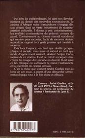 Cinema D'Afrique Noire Francophone - 4ème de couverture - Format classique