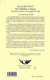 Malgre Tout ; Du Valdahon A Figuig ; Les Peregrinations D'Un Rappele De 1956 - 4ème de couverture - Format classique