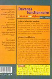 Devenez Foncionnaire A 20, 30, 40 Ans Et Plus... - 4ème de couverture - Format classique