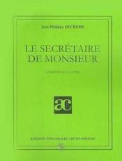 Le secretaire de monsieur - Couverture - Format classique
