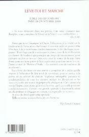 Leve Toi Et Marche - 4ème de couverture - Format classique