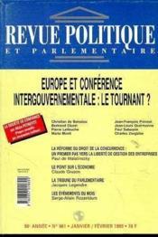 Europe Fin Ou Commencement ; Rpp 981 Janvier Fevrier 1996 - Couverture - Format classique