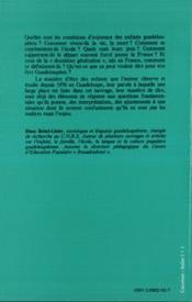 Les Enfants De La Guadeloupe - 4ème de couverture - Format classique