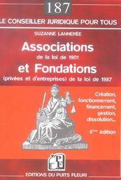 Associations de la loi de 1901 et fondations (privees et d'entreprises) de la loi de 1987. creation - Intérieur - Format classique