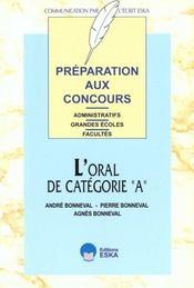 Preparation Aux Concours L'Oral De Categorie A - Intérieur - Format classique