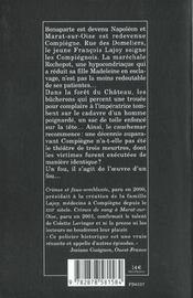 Crimes Dans La Cite Imperiale - 4ème de couverture - Format classique