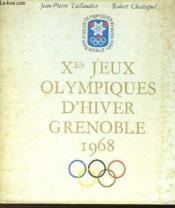 Xes JEUX OLYMPIQUES D'HIVER GRENOBLE 1968 - Couverture - Format classique