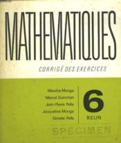 Mathematiques - Couverture - Format classique