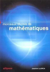 Morceaux Choisis De Mathematiques Exercices Et Problemes Pour Le Lycee - Intérieur - Format classique