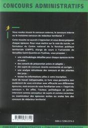 Redacteur Territorial Nouvelle Edition Categorie B Tous Concours Methodologie Et Conseils Exercices - 4ème de couverture - Format classique