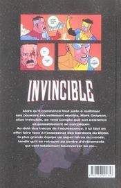 Invincible t.2 ; au nom du père - 4ème de couverture - Format classique