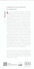 Organisation Mondiale Du Commerce - 4ème de couverture - Format classique