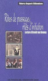 Rites De Passage Rites D Initiation Lecture D Arnold Van Gennep - Intérieur - Format classique