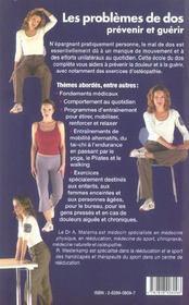Tout savoir sur les problemes de dos ; prevenir et guerir - 4ème de couverture - Format classique