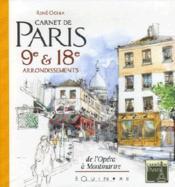 Carnet de paris 9e et 18e arrondissements - Couverture - Format classique