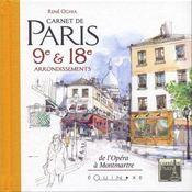 Carnet de paris 9e et 18e arrondissements - Intérieur - Format classique