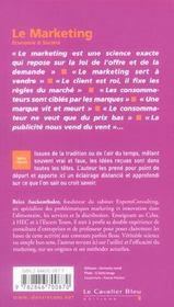 Le marketing - 4ème de couverture - Format classique