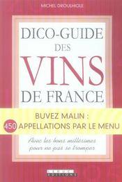 Dico-guide des vins de France - Intérieur - Format classique
