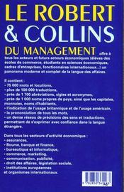 Le robert & collins du management ; 10e edition - 4ème de couverture - Format classique