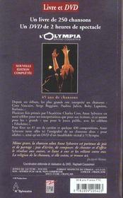 Anne sylvestre sur mon chemin de mots + dvd inedit - 4ème de couverture - Format classique