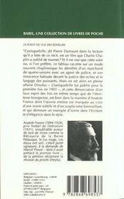 Crainquebille - 4ème de couverture - Format classique