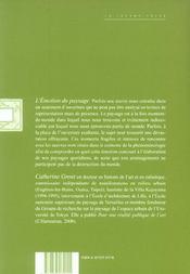 Emotion Du Paysage (L') - 4ème de couverture - Format classique