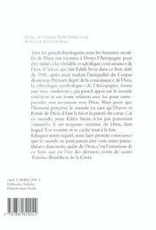Les voies de la connaissance de Dieu ; la théologie symbolique de Denys l'Aréopagite - 4ème de couverture - Format classique