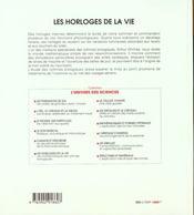 Les Horloges De La Vie. - 4ème de couverture - Format classique