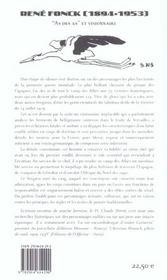 René Fonck (2e édition) - 4ème de couverture - Format classique