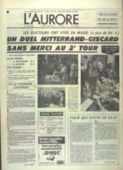 Aurore (L') N°9229 du 06/05/1974 - Couverture - Format classique