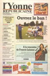 Yonne Republicaine (L') N°169 du 24/07/2001 - Couverture - Format classique