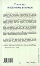 Citoyennes militairement incorrectes - 4ème de couverture - Format classique