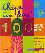 Chépa quoi faire ! 100 activités au fil des mois (3-6ans) - Intérieur - Format classique