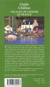 Guide des villages de charme en france ; edition 2002 - 4ème de couverture - Format classique