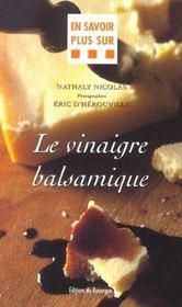 Le vinaigre balsamique - Intérieur - Format classique