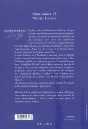 Mots croisés t.12 - 4ème de couverture - Format classique