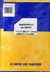 Applications de droit pour BTS 1ère année - Intérieur - Format classique