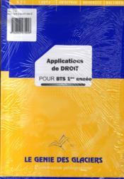 Applications de droit pour BTS 1ère année - Couverture - Format classique