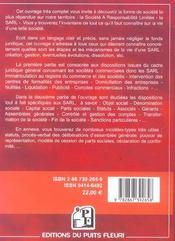 La s.a.r.l. societe a responsabilite limitee. creation, fonctionnement, gestion, dissolution... 4eme - 4ème de couverture - Format classique