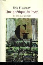 Une poétique du livre - Couverture - Format classique