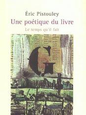 Une poétique du livre - Intérieur - Format classique