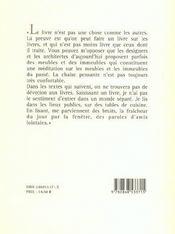 Une poétique du livre - 4ème de couverture - Format classique