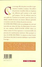 Livre Des Peres - La Tradition Vivante - 4ème de couverture - Format classique