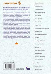 Psychiatrie de l'enfant et de l'adolescent - 4ème de couverture - Format classique