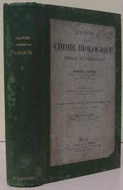 Chimie biologique - Couverture - Format classique